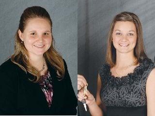 Shelby Brammel, left, Rachel Heimerl, right