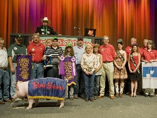The Grand Champion Barrow was exhibited by Lea Kimley.