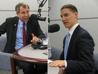 Ohio's U.S. Senate candidates Sherrod Brown and Josh Mandel.