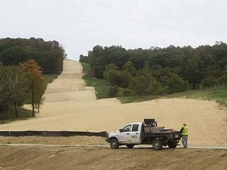 Land is cleared as part of a pipeline project in eastern Ohio.