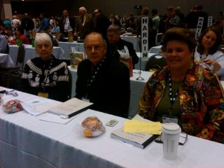 (L-R) Joyce Peth, David Peth and Gayle Hansen represent Cuyahoga Farm Bureau at the 94th Ohio Farm Bureau Annual Meeting