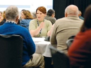 Farm Bureau members discuss how Community Councils could impact local issues.