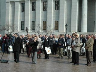 Farm Bureau members at the estate tax elimination rally during Ag Day at the Capital 2011