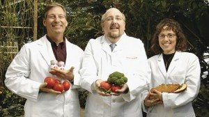 From left, Steven Schwartz, Steven Clinton and Yael Vodovotz are advancing research at the Food Innovation Center.