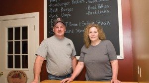 Russ and Mendy Sellman raise livestock and sell meat to customers in their community.