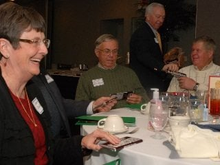 Farm Bureau members enjoying Franklin County's Kickoff last year.