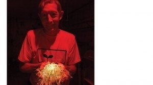 Steve Sauer holds sprouts that his family grows and distributes to grocery stores in Ohio and Michigan.