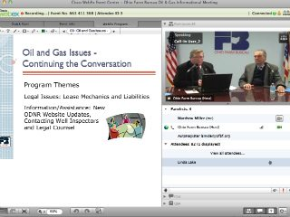 Dozens of OFBF members logged into a members-only web meeting to get the latest information on oil & gas issues in Ohio.