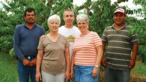 "Members of the team including, from left, Osbaldo ""Skinny"" Perez, Betty and son, Jeff, Ann Spriggs and Tony Albarado"