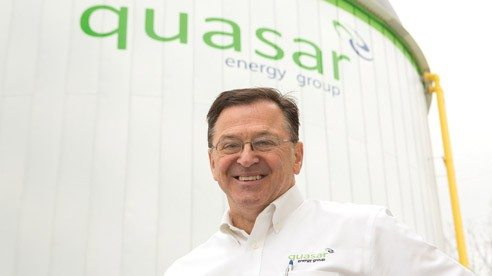Mel Kurtz is president of Quasar Energy Group, which accepts organic wastes that would otherwise end up in landfills.