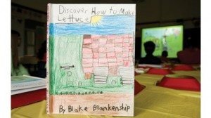 Shelby County Farm Bureau provided Central Elementary School students with journals they used to document their school gardening project.