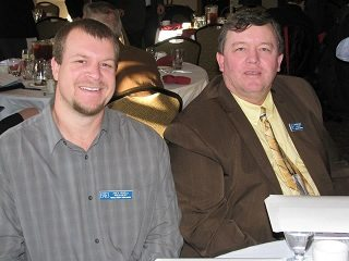 County President Joey Roell sits with Butler County President, Tim Hesselbrock