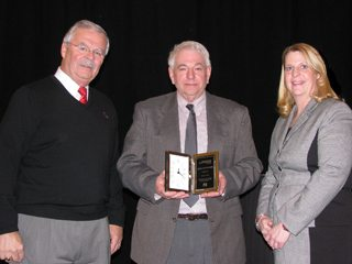 (Pictured l-r) Jack Fisher, OFBF executive vice president, Mr. Longenecker and Sandy Kuhn, AgriPOWER director.