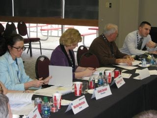 Farm Bureau members gathered to discuss issues affecting Ohio agriculture as part of Ohio Farm Bureau's Advisory Teams.