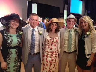 Past Farm Bureau interns (l to r): Suzie McMullen, Matthew Cook, Caroline Weihl, Derek McCracken and Lauren Fehlan.