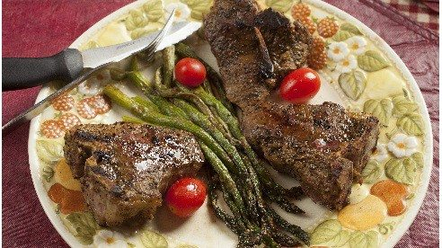All you need is olive oil, lemon pepper, lamb and a grill!