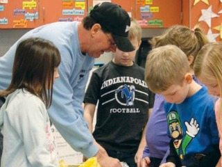 Mike Schumm, an Ohio Farm Bureau state trustee, teaches kids about ag as part of the projects developed by his council.