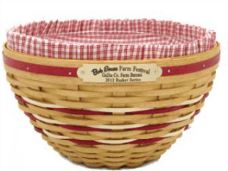 2012 Bob Evans Collector Basket
