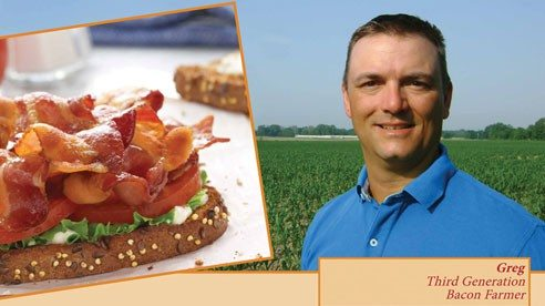 Ever met a bacon farmer? There are a lot of them right here in Ohio, on family farms that take great care in raising the bacon we love. Find out more about bacon, ham and pork chop farmers and meet Greg - at OhioPork.org