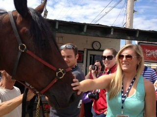 Young Ag Professionals toured Scioto Downs, among other locations during last weekend's tours. Photo by Steve Berk.