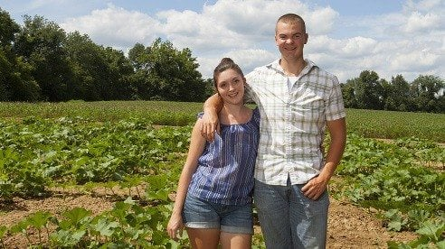 Logan and Marissa Kruthaup, like many beginning farmers, have had to find innovative ways to break into the business.