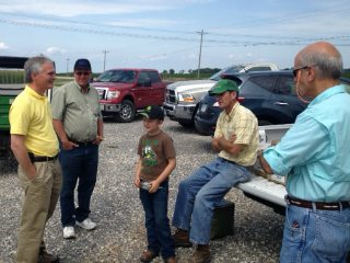 Congressman Bob Latta discussing farm policy during a tour in Van Wert and Mercer counties.