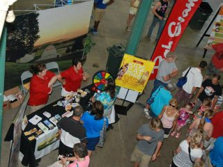 A bird's eye view inside the Ag and Hort Building at the Ohio State Fair.