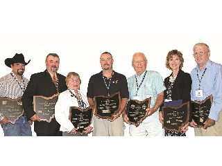 From left: J.L. Draganic, Jim Croskey, Cynthia Koonce, Tom LeFevre, Bill Shoup,Lucy Sondles and Don Sharp.
