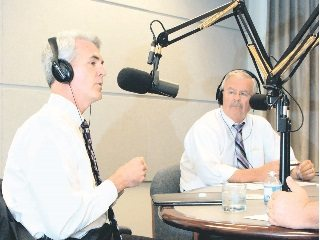 Conservation advocate Josh Knights (left) joined Ohio Farm Bureau's Jack Fisher in a conversation on 'Town Hall Ohio.'.