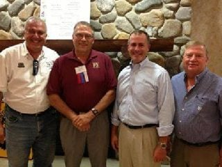 Left to right:  Cliff Hite, Gary Wilson, Robert Sprague and John Motter are pictured at our annual meeting. Over 150 att