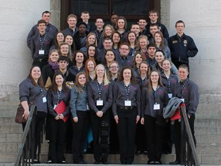 Ohio Youth Capitol Challenge participants