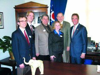 Farm Bureau members meeting with U.S. Rep. Jim Renacci.