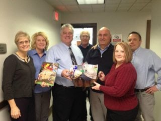 Athens Board Trustees present commissioners with locally grown and made items for National Ag Week!