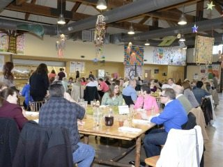This dinner helped raise more than $5,000 for Flying Horse Farms, which offers experiences for children with illnesses.