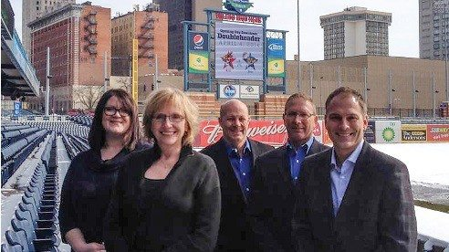 The staff of McClure Insurance Group led by Matt McClure (far right). 342 W. Dussel Drive, Ste 100, Maumee  |  419-891-9494