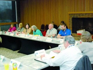 Advisory team members discuss agriculture education issues and opportunities.