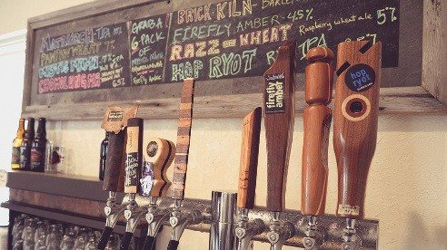 The Taproom offers a variety of Jackie O's beers.