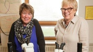Jeanne Gogolski (left) and Carol Warkentien, owners of Education Projects & Partnerships provide professional development opportunities to help teachers explore agricultural sciences.