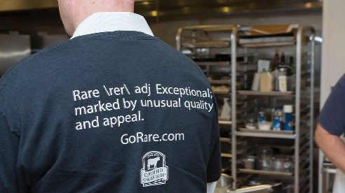 "Certified Angus Beef's definition of ""rare"" is featured on T-shirts."