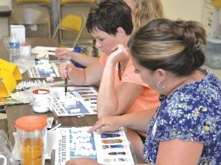 Teachers participated in hands-on activities that they could use in their classrooms before touring farms in the area.