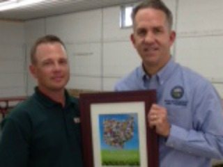 Noble County Farm Bureau President, Jason Feldner & Rep. Andy Thompson