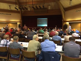 More than 350 farmers and others attended the first certified fertilizer applicator training session Sep. 12.