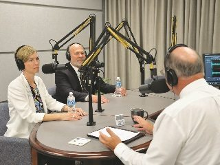 American Farm Bureau's Julie Ann Potts and Bob Stallman stopped by the Town Hall Ohio studio during a recent visit to Oh