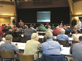 Farmers have filled meeting halls in recent weeks to obtain state-required certification for fertilizer application.