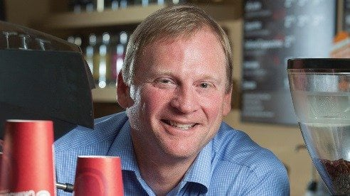Greg Ubert, founder of Crimson Cup, has expanded his business by supporting a growing number of up-and-coming, independent coffee houses.