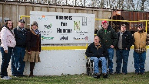 The Miami County Farm Bureau board originated and continues to support the Bushels for Hunger program. Pictured left to right Cindy Sturgill, Dennis Barbee, Cynda Renner, Bill Wilkins, Dan Sturgill, Grant Davis and Craig Lichtenberg.