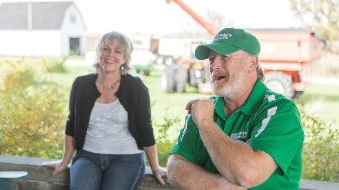 Dwight Clary and his wife Lisa farm 1,000 acres of corn, soybeans and wheat and also run a seed business through Center Seeds to help farmers plant cover crops.