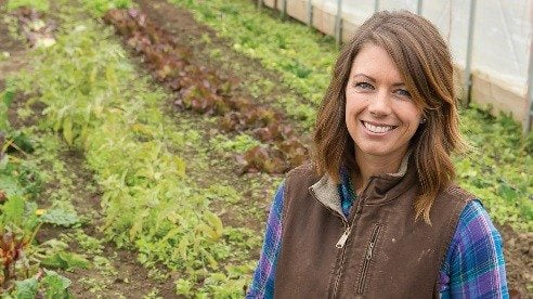 Focusing on vegetables and herbs helped her get the farm up and running with relatively low capital investments.