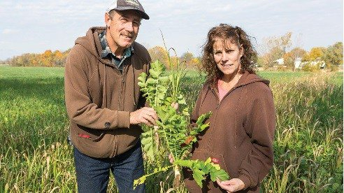 By enhancing organic matter in the soil, Jeff and Carla Wagner hope to improve their land.
