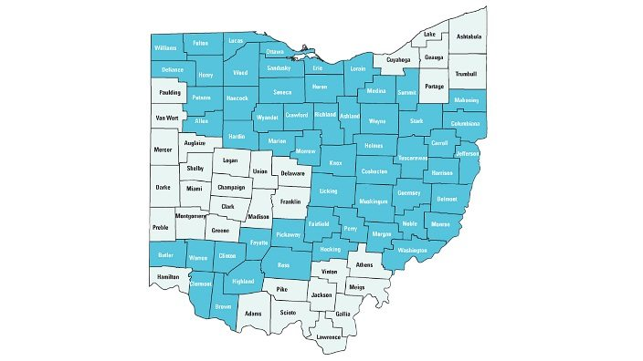 Map of 2014 Interstate and Intrastate Pipeline construction
